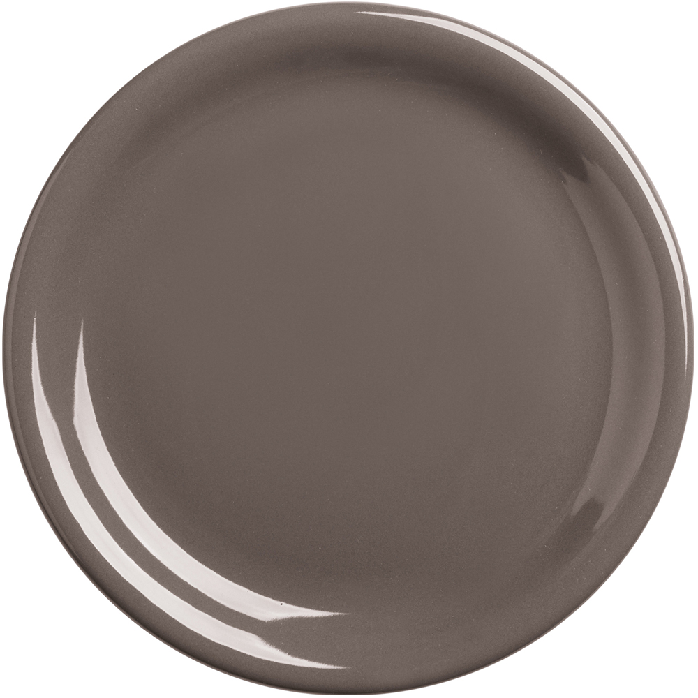 EXCELSA Fashion陶製淺餐盤(深褐19.5cm)