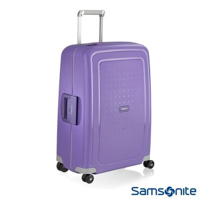 Samsonite新秀麗-25吋S-39-CURE四輪PP硬殼TSA扣鎖行李箱-淡紫