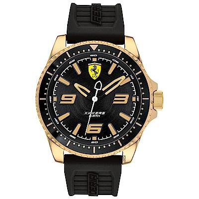 Scuderia Ferrari 法拉利 XX KERS 競速手錶-黑x金框/45mm
