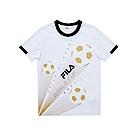 FILA KIDS 男童吸濕排汗上衣-白 1TES-4328-WT