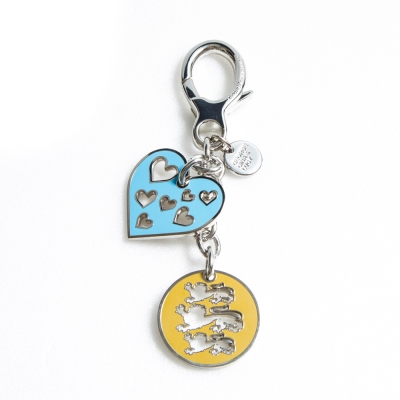 GG&L-CHARMING HEART鑰匙圈-淺藍