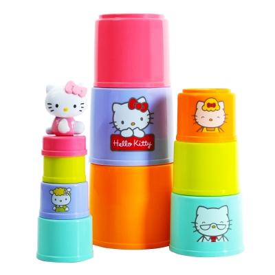 Hello Kitty 彩虹杯子疊疊樂