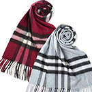 BURBERRY 經典格紋100% 喀什米爾羊毛圍巾任選$13500