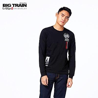 BIG TRAIN 本多忠勝羅紋束口長袖T-男-黑色