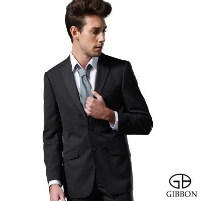 GIBBON 商務沉穩條紋成套西裝/平口褲‧雲灰