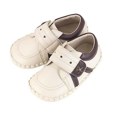 Swan天鵝童鞋-雙色星星休閒學步鞋1560-米