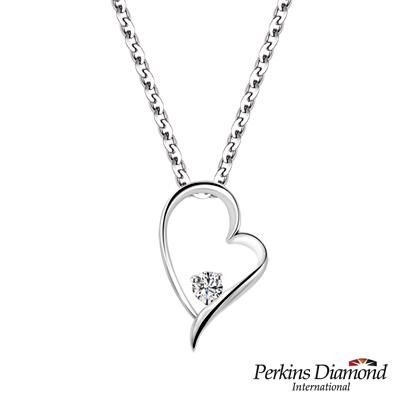 PERKINS 伯金仕 - Heart系列 0.04克拉鑽石項鍊