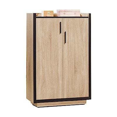 品家居  米朵拉2.6尺橡木紋二門鞋櫃-78x40x122cm免組