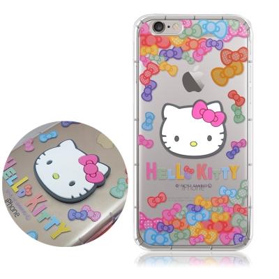 正版授權Hello Kitty iPhone 6s Plus立體大頭空壓手機殼(...