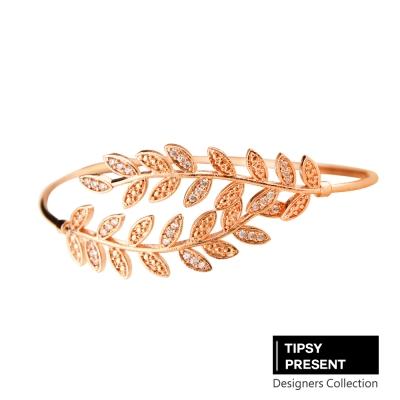 微醺禮物 頂級鋯石 希臘女神 樹葉 細緻手環