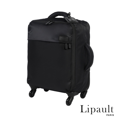 法國時尚Lipault 20吋輕量四輪行李箱(耀岩黑)