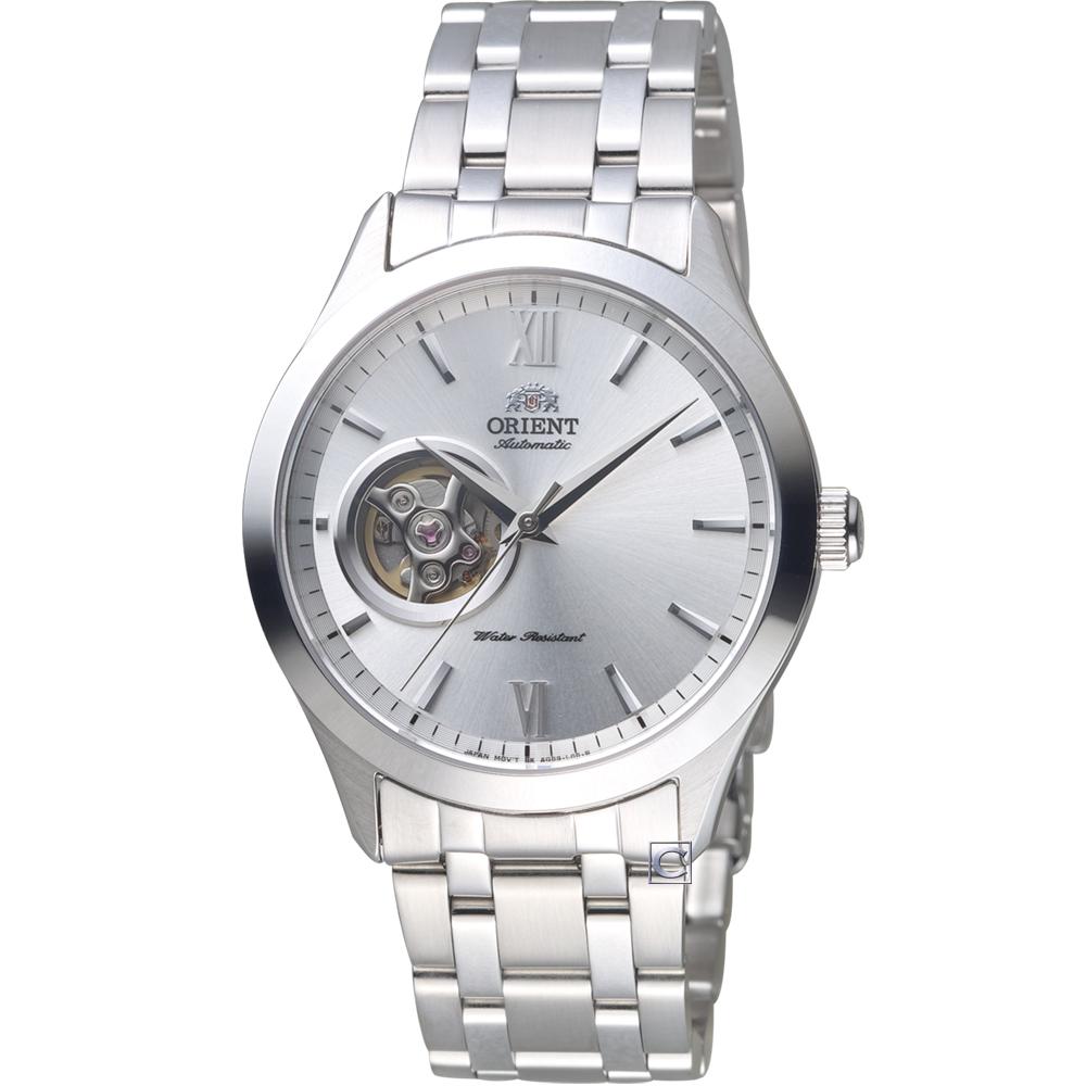 ORIENT東方錶SEMI-SKELETON小鏤空機械錶(FAG03001W)-39mm
