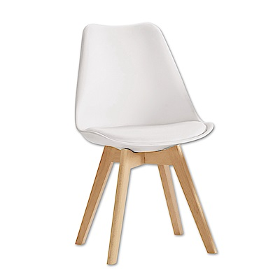 Boden-奧麗莎簡約皮革餐椅/ 單椅(三色可選)-47x56x81cm