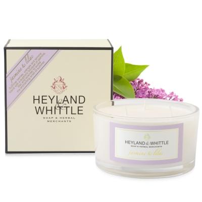 H&W英倫薇朵 茉莉丁香三蕊香氛燭 480g