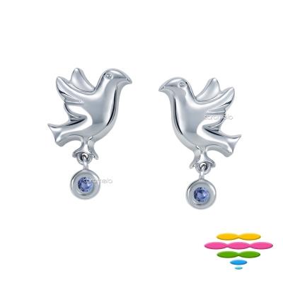 彩糖鑽工坊 藍寶石耳環 青鳥系列