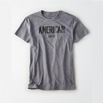 AEO 美國老鷹 經典文字印刷短袖T恤-灰色 Amercan Eagle