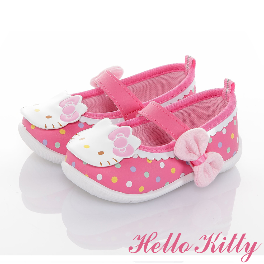 HelloKitty童鞋 輕量減壓抗菌防滑學步娃娃鞋-可室內-桃