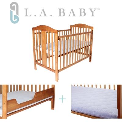 (美國 L.A. Baby)里維爾嬰兒大床-白色/咖啡色
