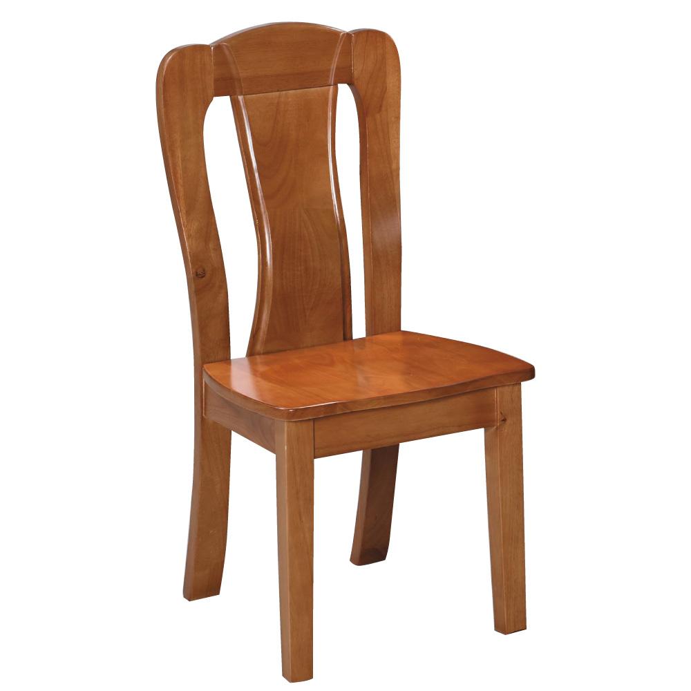 品家居 歐奈實木餐椅-45x53x100cm-免組
