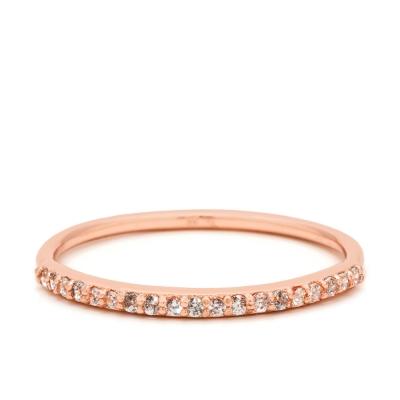 Gorjana 平衡骨 細緻白鑽 玫瑰金細版戒指 Shimmer Bar Ring