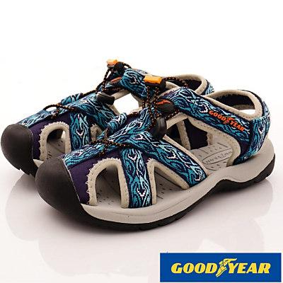 GOODYEAR-護趾運動涼鞋-SE2606藍(女段)