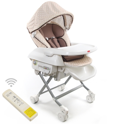 Yip Baby 第三代電動餐搖椅-咖啡色