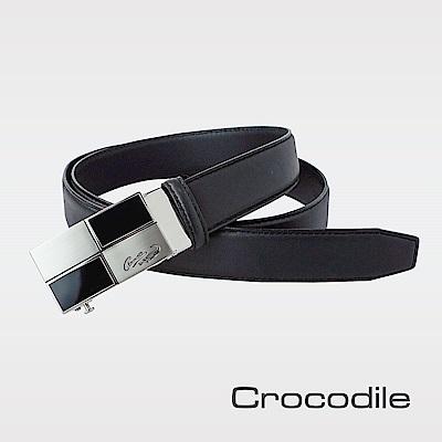 Crocodile 紳士進口真皮自動穿扣皮帶 0101-42016-01