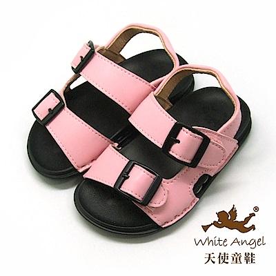天使童鞋 馬卡龍輕巧穿涼鞋(小童)C295-粉