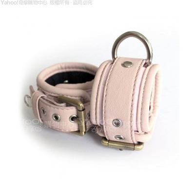 美國駭客Toughage-Locking Buckle棉襯手腕銬-粉紅