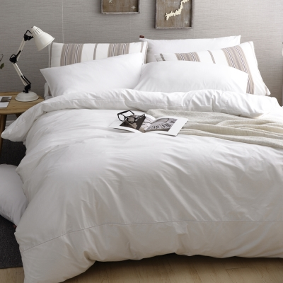 DON極簡生活-晨光白 單人200織精梳純棉被套