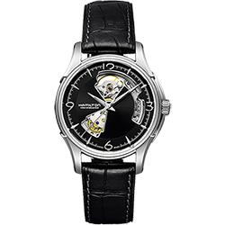 Hamilton漢米爾頓 JAZZMASTER爵士開心機械錶-黑/40mm