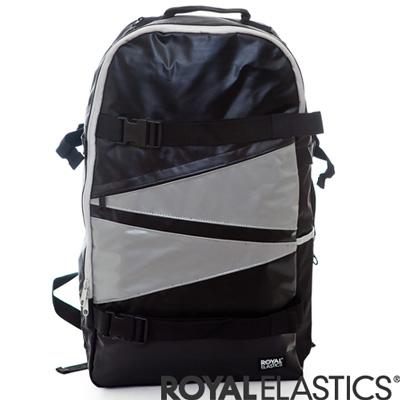 【ROYAL ELASTICS】幾何滑板後背包-黑/灰