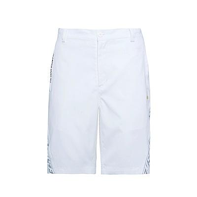 FILA 男平織短褲-白 1SHS-1452-WT