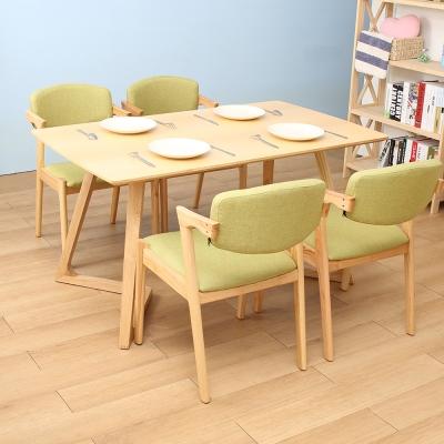 Jiachu 佳櫥世界-Job嘉柏一桌四椅/二色-寬140x深80x高72cm