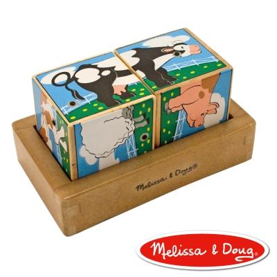美國瑪莉莎 Melissa & Doug - 聲音拼圖 - 農場動物立體方塊