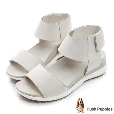 Hush Puppies JOSU 時尚輕量運動涼鞋-米白色