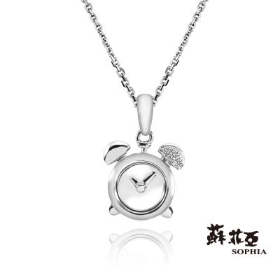 蘇菲亞SOPHIA-鑽石項鍊-鬧鐘造型鑽鍊