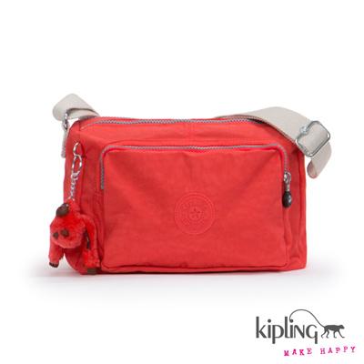 Kipling-斜背包-珊瑚玫瑰粉素面