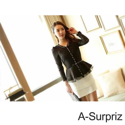 A-Surpriz 金邊蝴蝶結細版腰帶(黑色)