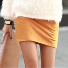 【N.C21】保暖鋪棉內裡亮彩小短裙 (共六色)