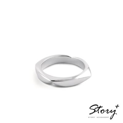 STORY故事銀飾-純銀定情對戒-藏愛-女戒