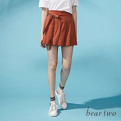 beartwo 蝴蝶綁結造型寬管褲裙(二色)