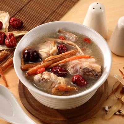 (任選)艾其肯養生雞湯 人蔘糯米雞(450g/包)