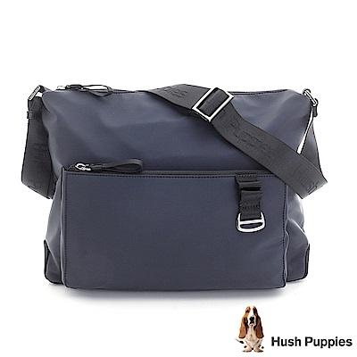 Hush Puppies 尼龍休閒斜背包-深藍