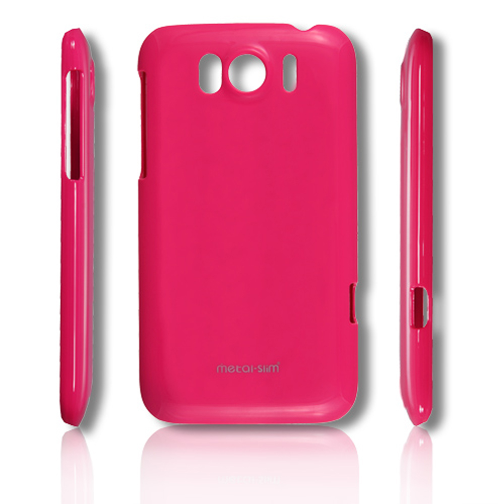 Metal-Slim HTC Sensation XL 保護殼 彩色系列 桃紅