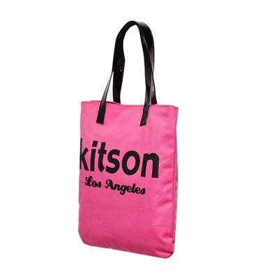 kitson 美式學院風方型托特包(PINK)