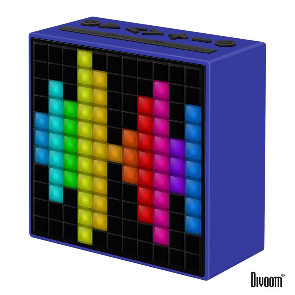 DIVOOM TimeBox 智能LED音樂鬧鐘(藍牙喇叭)-活力藍