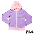 FILA KIDS 女童抗UV吸濕排汗針織外套-淡紫5JKS-4316-MV
