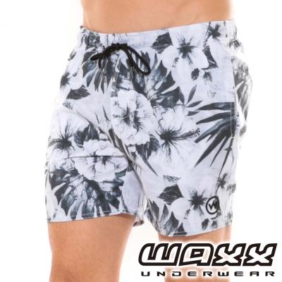 WAXX熱浪系列-墨色夢幻快乾型男海灘褲(15英吋)