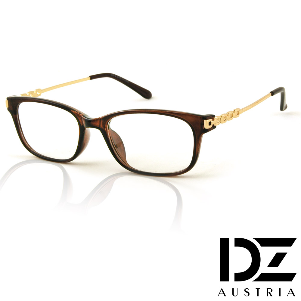 DZ 雅士續方鏈 平光眼鏡(金咖系)